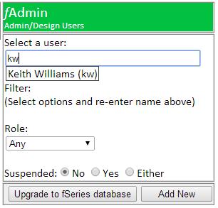 admins select