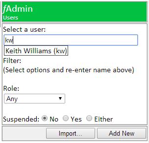 users select